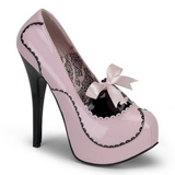 Pink Lack 14,5 cm Burlesque BORDELLO TEEZE-01 Plateau Pumps