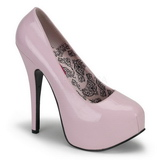 Pink Lack 14,5 cm Burlesque BORDELLO TEEZE-06 Plateau Pumps
