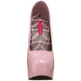 Pink Lack 14,5 cm Burlesque BORDELLO TEEZE-06 Plateau Pumps