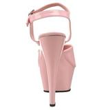 Pink Lack 15 cm Pleaser KISS-209 Plateau High Heels