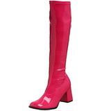 Pink Lack 8,5 cm GOGO-300 High Heels Damenstiefel für Männer