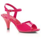 Pink Lack 8 cm BELLE-309 High Heels Damenschuhe für Herren