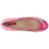 Pink Lackleder 10 cm QUEEN-02 grosse grössen pumps schuhe