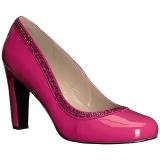 Pink Lackleder 10 cm QUEEN-04 grosse grössen pumps schuhe