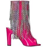Pink Lackleder 10 cm QUEEN-100 grosse grössen stiefeletten damen