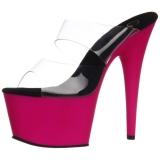 Pink Neon 18 cm ADORE-702UV Plateau Mules Schuhe