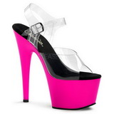 Pink Neon 18 cm ADORE-708UV Plateau High Heels