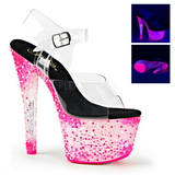 Pink Neon 18 cm Pleaser CRYSTALIZE-308PS Plateau High Heels