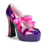 Pink Purple 13 cm KITTY-32 Womens Shoes with High Heels