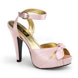 Pink Satin 12 cm PINUP COUTURE BETTIE-04 High Heels Platform
