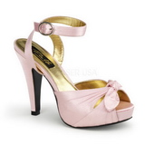 Pink Satin 12 cm PINUP COUTURE BETTIE-04 Plateau High Heels