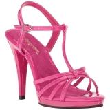 Pink Shiny 12 cm FLAIR-420 Womens High Heel Sandals