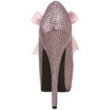 Pink Strass 14,5 cm Burlesque TEEZE-04R Plateau Damen Pumps Schuhe