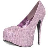 Pink Strass 14,5 cm Burlesque TEEZE-06R Plateau Damen Pumps Schuhe
