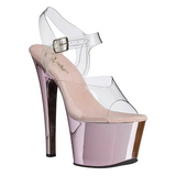Pink Transparent 18 cm SKY-308 Plateau High Heels