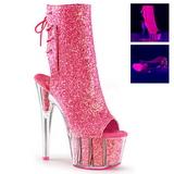 Pink glitter 18 cm ADORE-1018G damen stiefeletten mit plateausohle