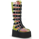 Rainbow 9 cm DAMNED-318 womens buckle boots with platform