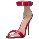 Red 13 cm Pleaser AMUSE-10 high heeled sandals