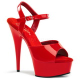 Red 15 cm Pleaser DELIGHT-609 High Heel Platform