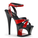 Red 18 cm Pleaser MOON-728 Platform High Heel Shoes