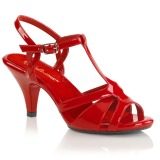 Red 8 cm Fabulicious BELLE-322 high heeled sandals