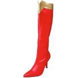 Red 9,5 cm WONDER-130 Women Knee High Boots