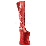 Red Glitter 34 cm VIVACIOUS-3016 Thigh High Boots for Drag Queen
