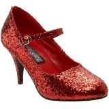 Red Glitter 7,5 cm GLINDA-50G Pumps Mary Jane