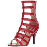 Red Patent 10 cm DREAM-438 big size ankle boots womens