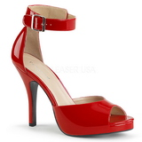 Red Patent 12,5 cm EVE-02 big size sandals womens