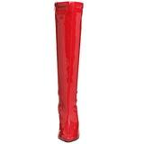 Red Patent 13 cm Pleaser SEDUCE-2000 Women Knee Boots