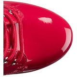 Red Patent 15,5 cm DELIGHT-1020 Platform Ankle Calf Boots
