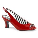 Red Patent 7,5 cm JENNA-02 big size sandals womens