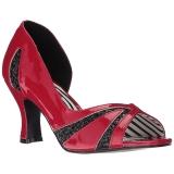 Red Patent 7,5 cm JENNA-03 big size pumps shoes