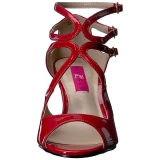 Red Patent 7,5 cm KIMBERLY-04 big size sandals womens