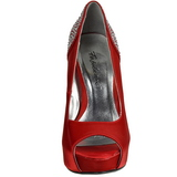Red Rhinestone 13 cm LOLITA-08 High Heeled Evening Pumps Shoes