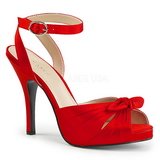 Red Satin 12,5 cm EVE-01 big size sandals womens