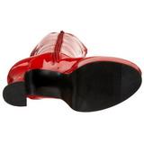 Red Shiny 11 cm Funtasma EXOTICA-2000 Platform Knee Boots