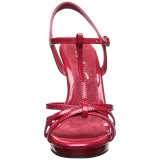 Red Shiny 12 cm FLAIR-420 Womens High Heel Sandals