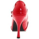 Red Shiny 12 cm retro vintage CUTIEPIE-08 Platform Pumps Open Toe