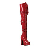 Red Shiny 13 cm ELECTRA-3028 High Heeled Overknee Boots