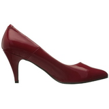 Red Shiny 7,5 cm PUMP-420 Low Heeled Classic Pumps Shoes