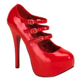 Red Varnish 14,5 cm Burlesque TEEZE-05 Womens Shoes with High Heels