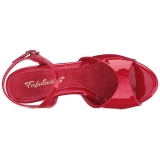 Red Varnish 8 cm BELLE-309 Womens High Heel Sandals