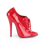 Red Varnished 15 cm DOMINA-460 Pumps with low heels