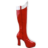Red White 11 cm Funtasma EXOTICA-305 Platform Knee Boots