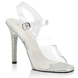 Rhinestones 11,5 cm GALA-08DM High Heeled Evening Sandals