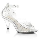 Rhinestones 8 cm BELLE-330RS high heeled sandals