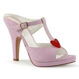 Rosa 10 cm SIREN-09 Damen Mules Schuhe