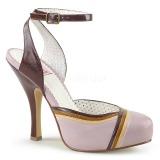 Rosa 11,5 cm CUTIEPIE-01 Pinup sandaletten mit verstecktem plateau